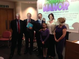 Pumplette at the launch of Monster Manor with @pauldixey ,Richard Lane, @StephenDixonTV , @DrKathBarnard , @DrKathOwen